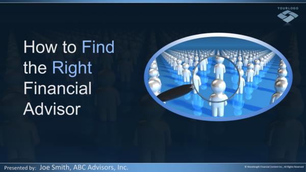 financial advisor seminar marketing
