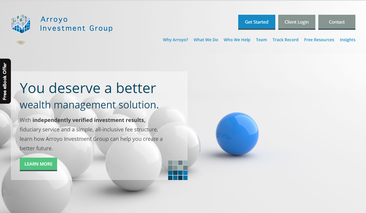 financial advisor website development